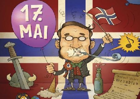 Gratelerer med Dagen! Поздравляем с Днём Норвежской Конституции 17 мая!